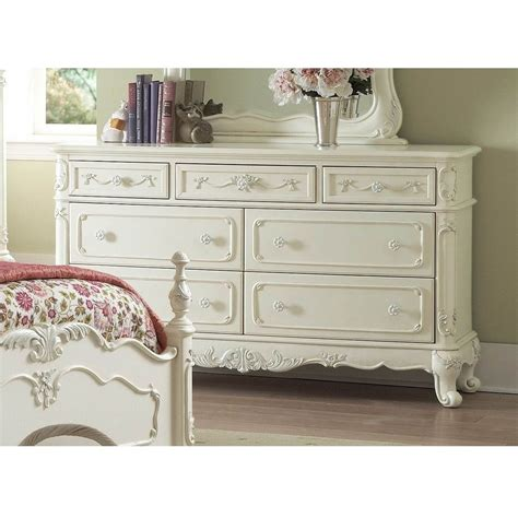 Cinderella Bedroom Set by Homelegance Cinderella Poster Bedroom Set In White For 90