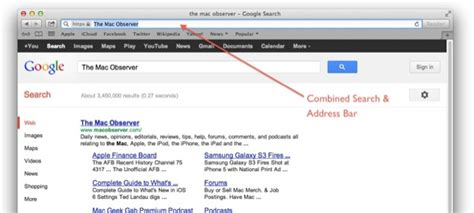 Search In Address Bar Safari 6 0 1 Restores Access To Search Specific Addresses The Mac Observer