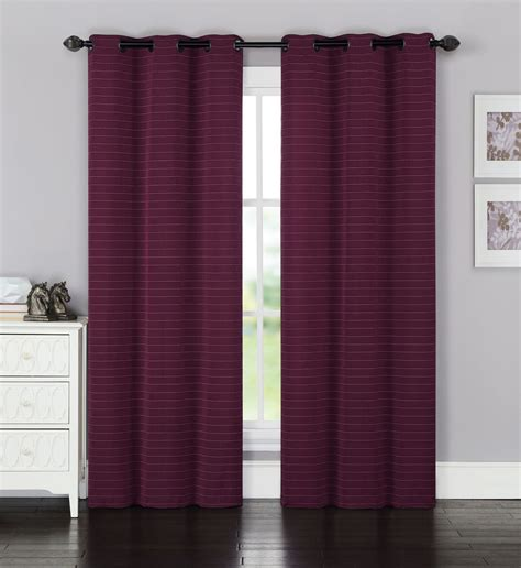 burgundy curtain panels pair of brielle heavy jacquard burgundy window curtain
