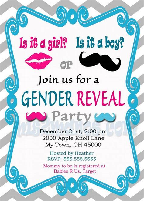 Baby Shower Gender Reveal Invitations by Gender Reveal Invitation Baby Shower Invites By Mis2manos