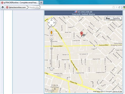 Search Ip Address Location Maps Analyze Email Header To Find Originating Ip Geographical Info