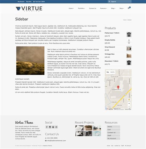 tutorial wordpress virtue sidebar template virtue premium documentation