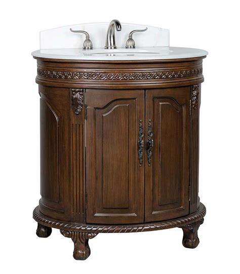 Adelina 32 Inch Antique Bathroom Vanity - adelina 32 inch antique bathroom vanity marble