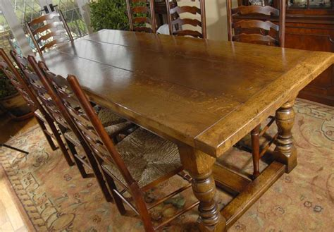 8 farmhouse table farmhouse refectory table 8 ladderback chairs