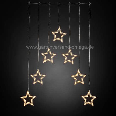Beleuchtete Fensterdekoration Weihnachten by Led Lichtervorhang Mit Sternensilhouetten