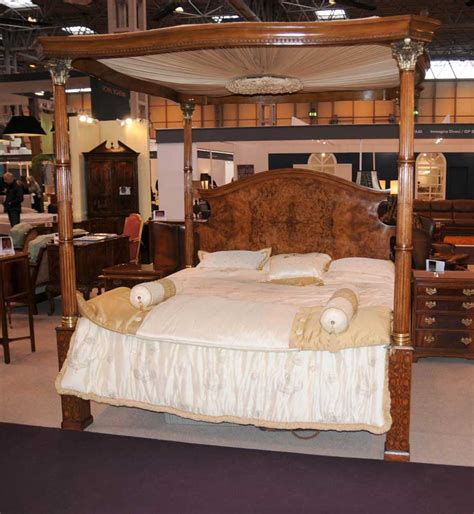 regency bedroom furniture regency walnut queen size four poster bed bedroom