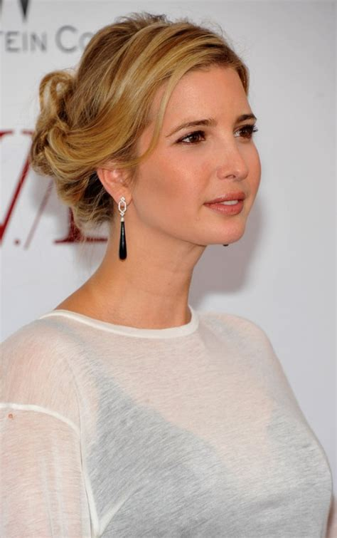 ivanka trump casually tousled updo for ladies