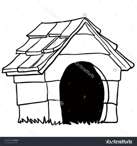 dog house sketch best free stock vector black and white dog house cartoon drawing