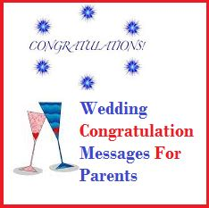 Wedding Congratulations To Parents Of The by Congratulation Messages Wedding Congratulation Messages