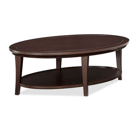 Oval Coffee Tables Metropolitan Oval Coffee Table Pottery Barn