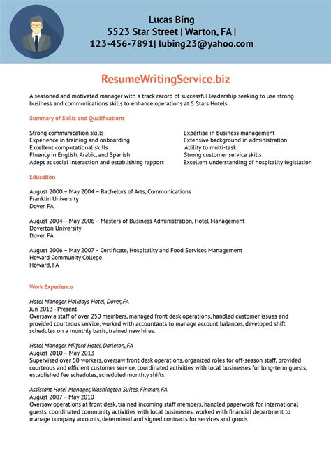 top resume for hotel industry new collection of resume format hotel