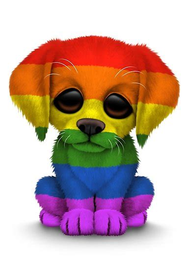 rainbow puppy quot pride rainbow flag puppy quot by jeff bartels redbubble
