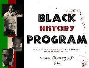 Black History Program Template by Black History Program Exles Myideasbedroom