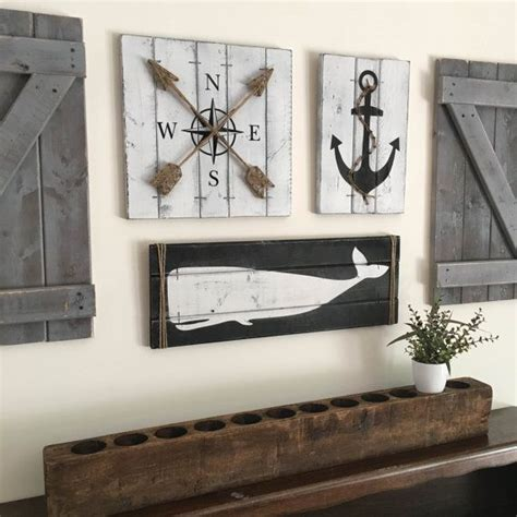 nautical set 3 set rustic house decor