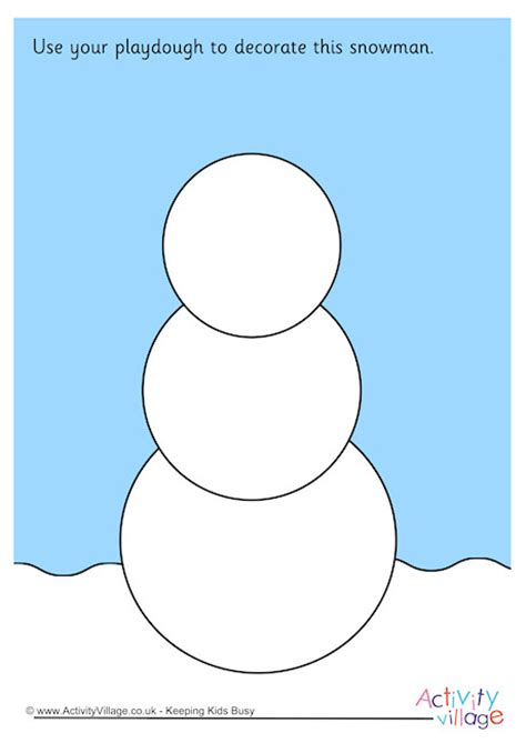 printable snowman playdough mats snowman playdough mat