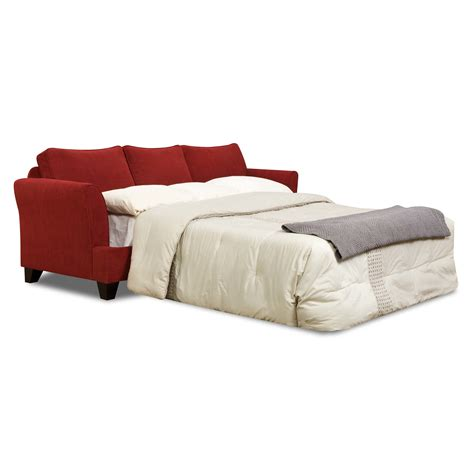 red faux leather sofa bed queen sectional sleeper sofa catchy sofa sleeper