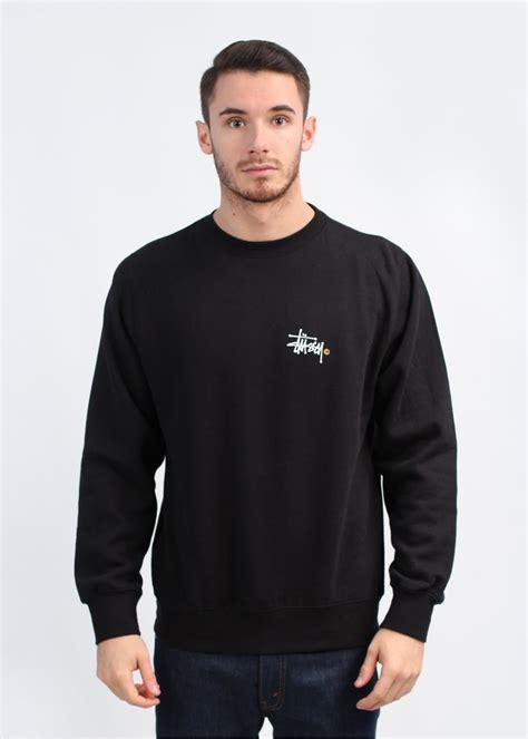 Zipper Hoodie Sweater Stussy 3 Jersey Jersey stussy apparel basic logo crew sweatshirt black