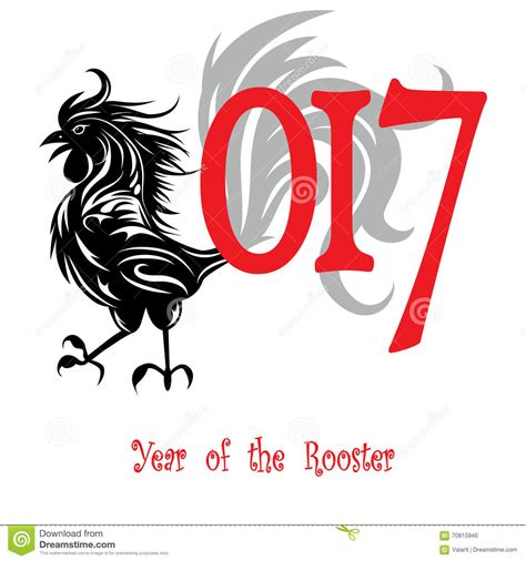 new year of rooster rooster bird concept of new year of the rooster