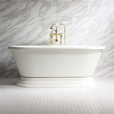 bisque bathtub gianfranco coreacryl bisque double ended pedestal bathtub