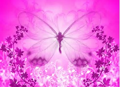 Pink Butterfly Girly Backgrounds