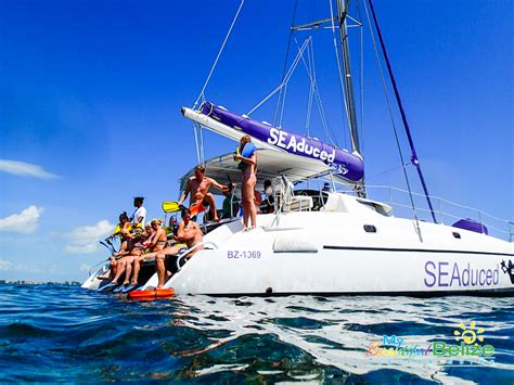 seaduced catamaran belize belize adventure tours with seaduced by belize the road