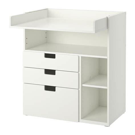 Stuva Changing Table With 3 Drawers White 90x79x102 Cm Ikea White Changing Table With Drawers