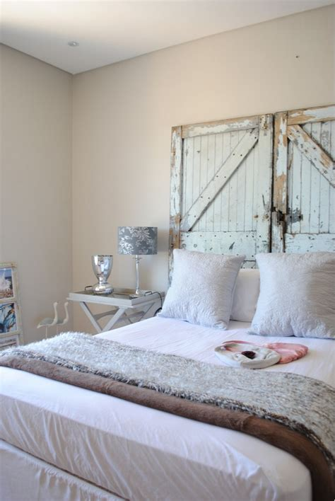 barn door headboard clever repurposing door headboard ideas