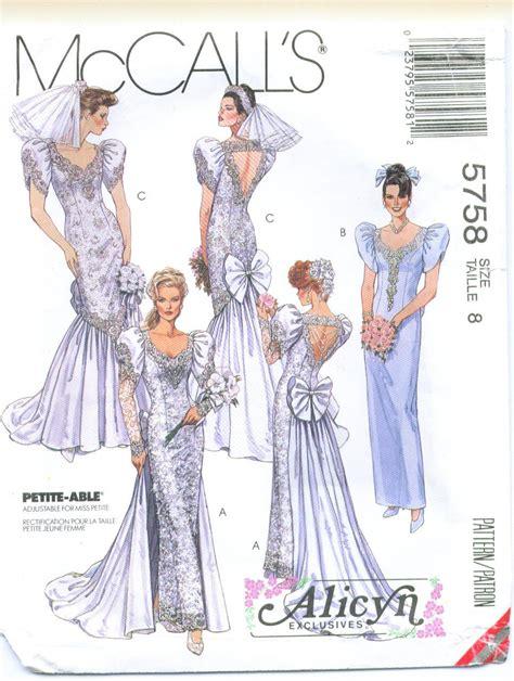 wedding dress pattern making books mccall s 5758 alicyn wedding dress sewing pattern size 8