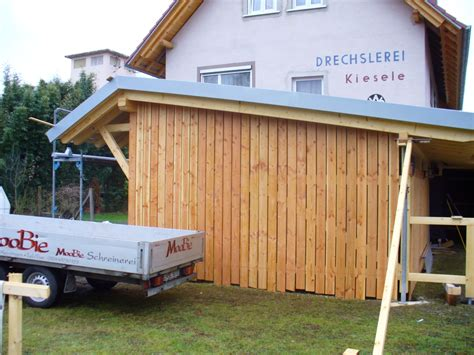 carport mit überdachung des eingangs moobie holzbau mehr carport als pultdach