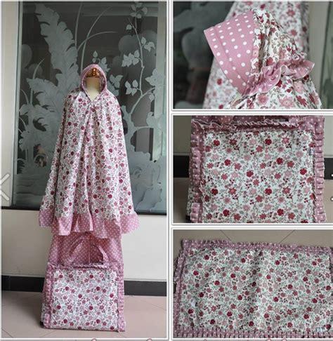 Mukena Anaka Polka mukena bunga polkadot pink indah mode