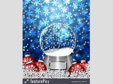 Illustration Of Snow Globe Blank And Christmas Tree Ornaments Free Christmas Ornaments Clip Art
