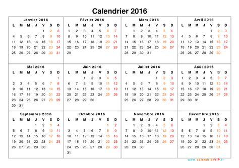 L Calendario 2016 Calendrier 2016 224 Imprimer Gratuit En Pdf Et Excel