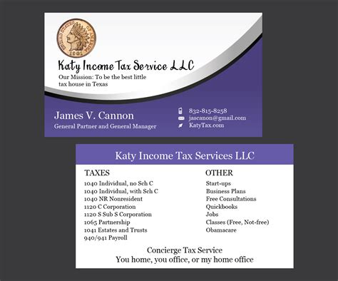 Income Tax Business Card Templates by Income Tax Business Card Templates Columbiaconnections Org