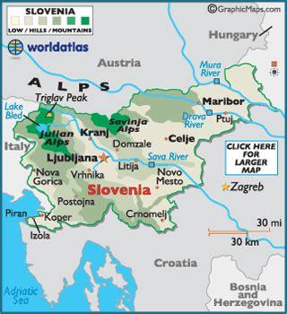slovenia on world map slowenien karte gemeinden