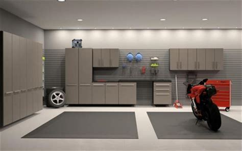 workshop interior layout modern garage storage cabinet design ideas and
