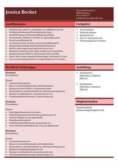 Lebenslauf Vorlage Tabellenform 15 tabellarische lebenslauf vorlagen lebenslaufgestalten