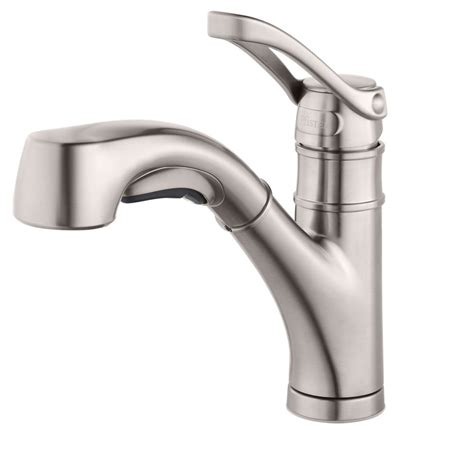 pfister prive single handle pull out sprayer kitchen faucet in stainless steel f 5347pvs the upc 038877597989 pfister kitchen prive single handle