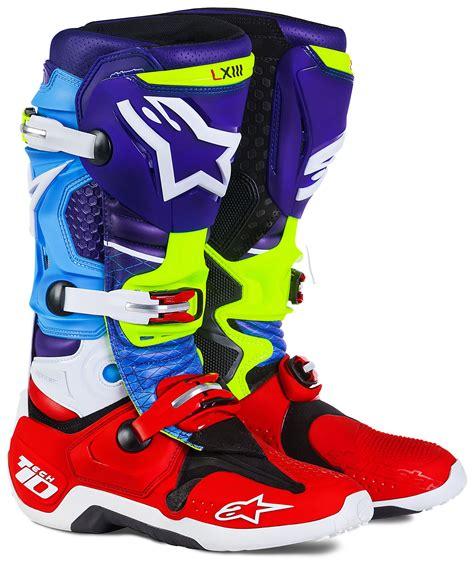 motocross boots alpinestars alpinestars tech 10 venom le boots revzilla