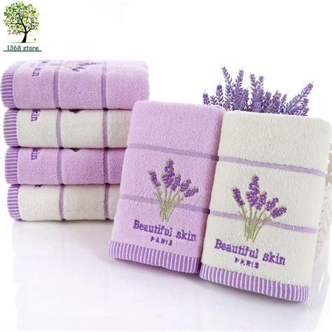 lavender bath towels soft new 2016 34 73cm cotton lavender flower towel bath towel cing high quality