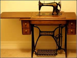 vintage antique singer table sewing machine