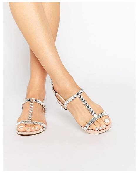 dune blush suede two part sandal with gems blush suede