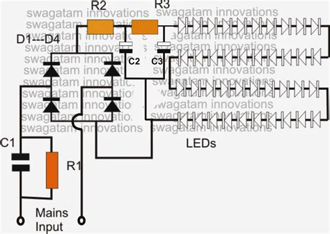 Led Light Bulbs Circuit Diagram Simple Led Bulb Circuit
