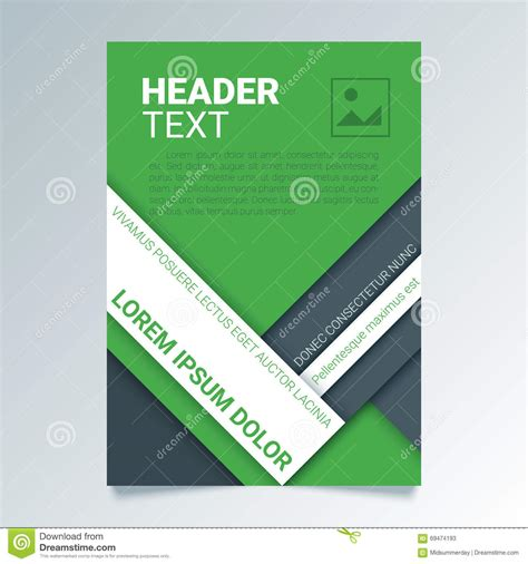 poster design report creative green flyer vector template in a4 size modern