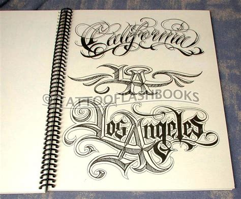 gangster lettering tattoo designs tattooflashbooks boog the name script guide