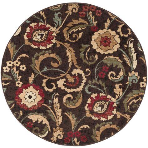 7 ft rug tayse rugs laguna brown 7 ft 10 in x 7 ft 10 in indoor area rug 5058 brown 8