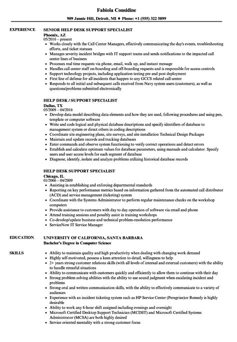 help desk specialist resume 28 images help desk