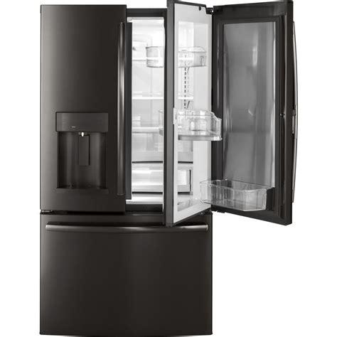 ge 27 8 cu ft french door refrigerator in slate ge 27 8 cu ft french door refrigerator with door in door