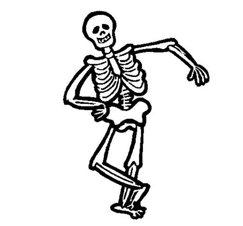 imagenes halloween esqueletos dibujo de esqueleto contento para colorear dibujos net
