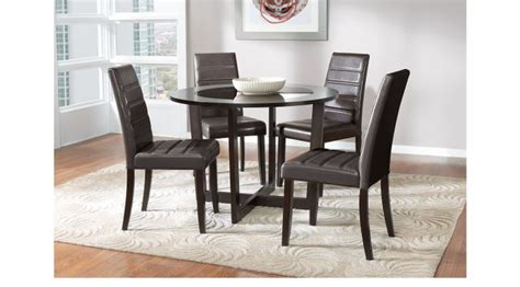 cappuccino dining room furniture collection mabry espresso dark brown 5 pc dining set round