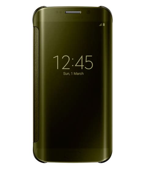 Samsung Original Clear Cover For S6 Edge Gold samsung clear view cover for samsung galaxy s6 edge gold